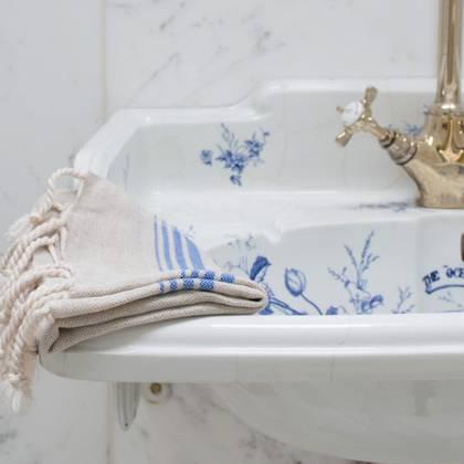 Turkish Hamman Hand Towel - Blue