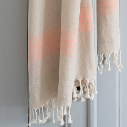 Turkish Hamman Towel - Large Peach (sold out)