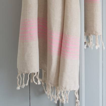 Turkish Hamman Towel - Large Pink (sold out)