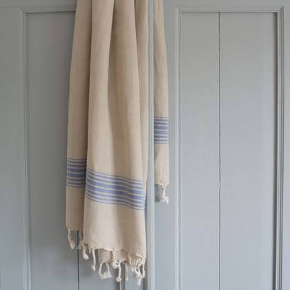 Turkish Hamman Towel - Large Greek Blue (due instore early Feb)
