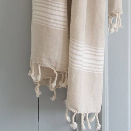 Turkish Hamman Towel - Large White (due instore early Feb)