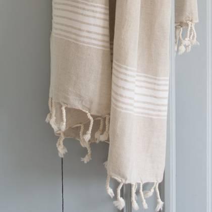 Turkish Hamman Towel - Large White