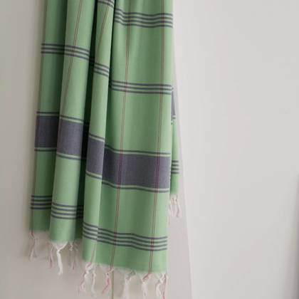 Turkish Organic Cotton Towel - Pistachio Green (due instore early Feb)