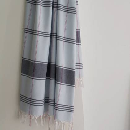 Turkish Organic Cotton Towel - Light Blue