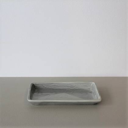 Vicki Fanning Small Ceramic Tray - Grey