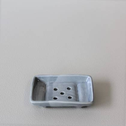 Vicki Fanning Ceramic Soap Dish - Grey