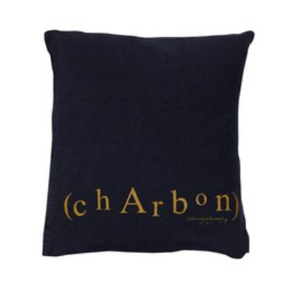 Bed & Philosophy pure linen Molly Cushion in Charbon (available to order)