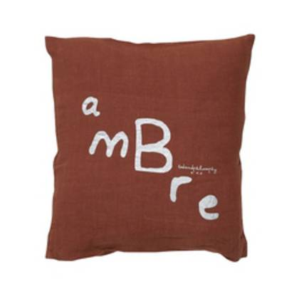 Bed & Philosophy pure linen Molly Cushion in Ambre (due early May)