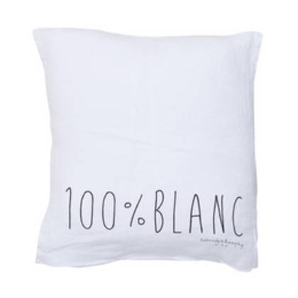 Bed & Philosophy pure linen Molly Cushion in Blanc