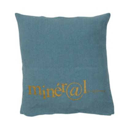 Bed & Philosophy pure linen Molly Cushion in Mineral (available to order)