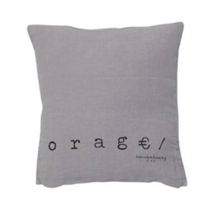 Bed & Philosophy pure linen Molly Cushion in Orage