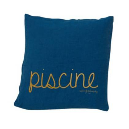 Bed & Philosophy pure linen Molly Cushion in Piscine (available to order)