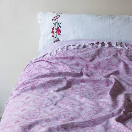 Turkish Cotton Bedcover - Violet