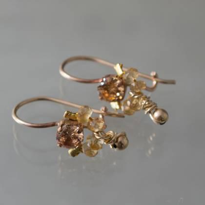 Earrings Dancer citrin, yellow crystal - n° 337 (sold)