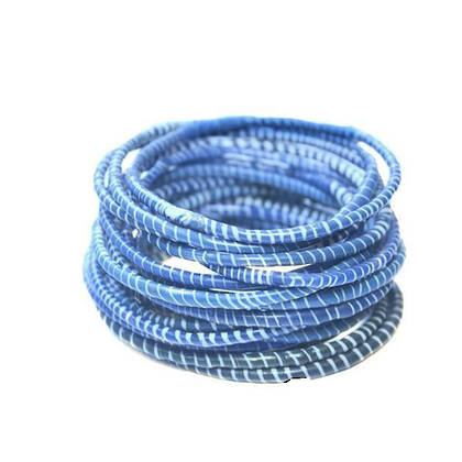 Jokko Bracelets from Mali Africa - set of 6 Sky Blue