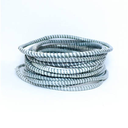 Jokko Bracelets from Mali Africa - set of 6 Dark Grey