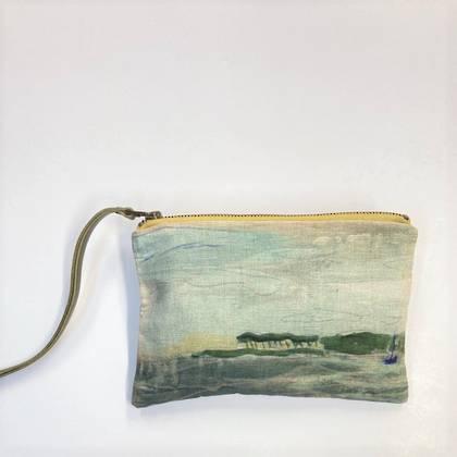 Maison Levy Linen Zip Purse - Ile au Bateau (sold out)