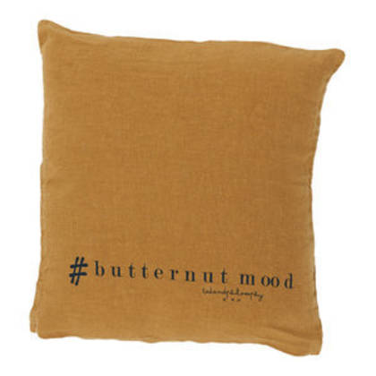 Bed & Philosophy pure linen Molly Cushion in Butternut