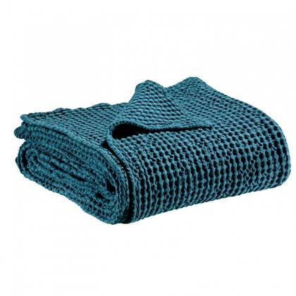 Portuguese Cotton Throw - Peacock Blue (sold out)