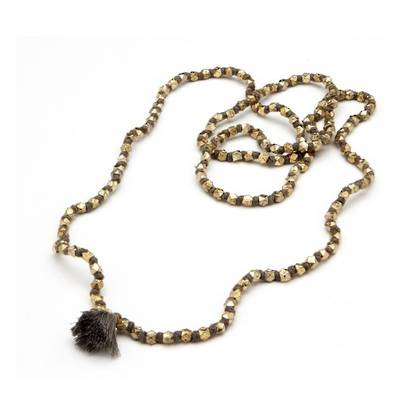 Necklace Daya - gold grey