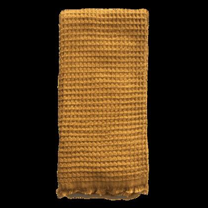 Waffle Turkish Towel  - Mustard