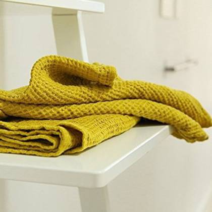 Pure Linen washed waffle Handtowel - 3 colourways