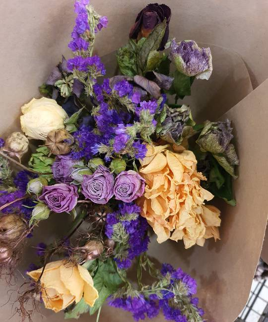 Dried Flower and foliage Posy