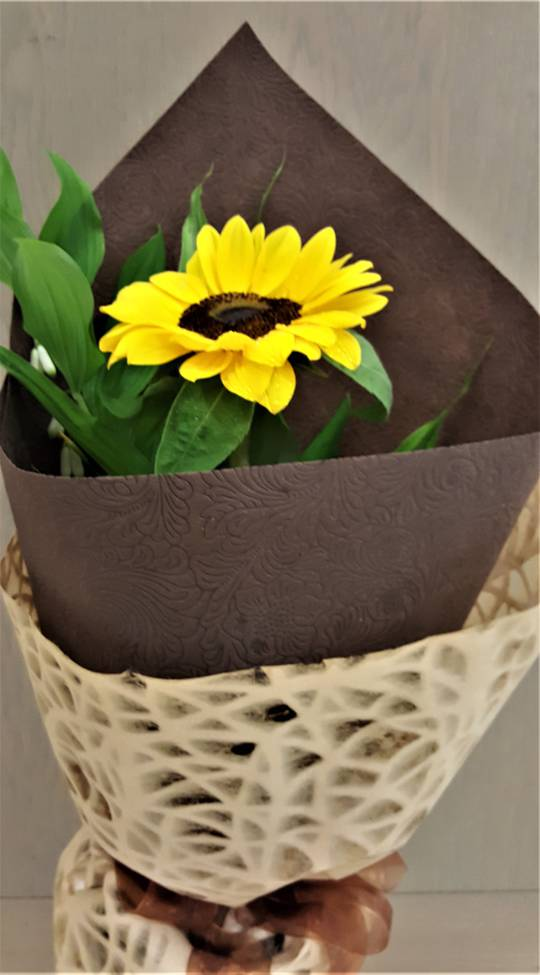 Single Styled Sunflower