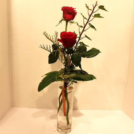 Budvase with Rose Bud