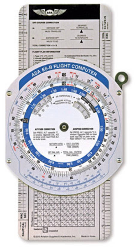ASA E6B Colour Navigation Flight Computer