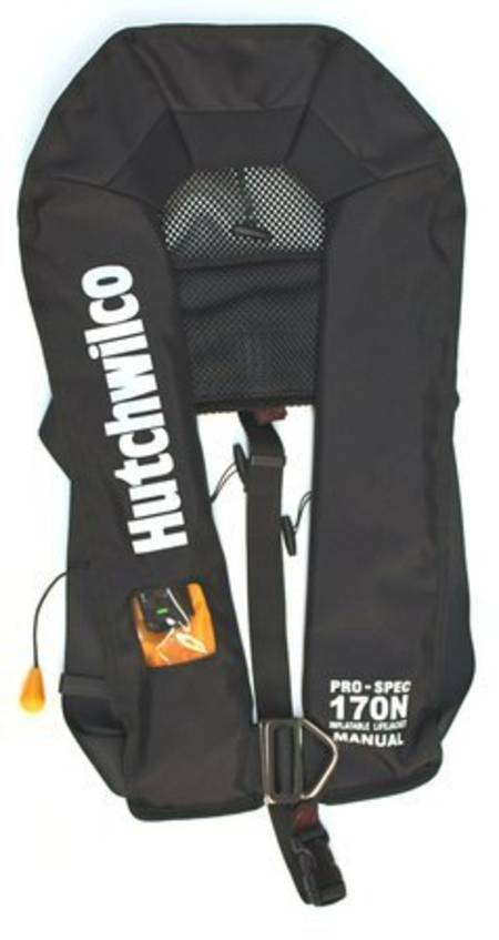 HW Pro-Spec 170N Manual Lifejacket With Harness  - Black