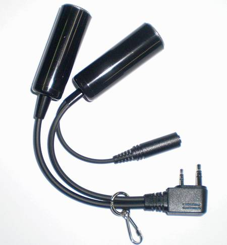 ICOM OPC-499 GA Headset Adapter for  IC/A14/14S, IC/A15, IC-A6/24, IC/A6E/24E