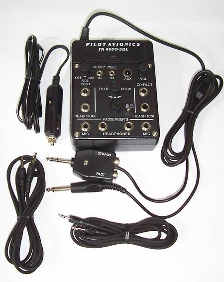 PILOT PA-400T 4-place Portable Intercom with Cellphone Interface