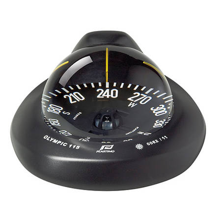 Plastimo Olympic 115 Sailboat Compass - Black - Universal Balance