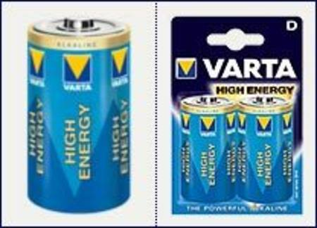 Varta High Energy Alkaline Battery D x 2 per pack