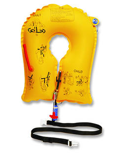 EAM UXF-35 Inflatable Aviation Lifejacket - (10 Year).  Adult/Child Size. CAA approved.