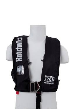 HW Pro-Spec 170N Auto Deck Lifejacket with Harness  - Black