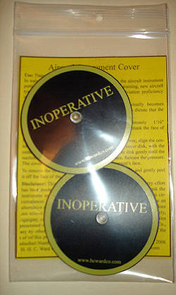 IFR instrument cover - 2 per pack - JP-1