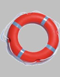 """Round 30"""" (75cm) SOLAS Lifebuoy   - 2.5kg Rail Mount - Rescue Orange  #07662"""