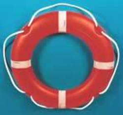 "Round 30"" (75cm) SOLAS Lifebuoy - Rescue Orange - 4 kg Manoverboard Bridge Mount # 07664"