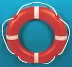 """Round 30"""" (75cm) SOLAS Lifebuoy - 4 kg Manoverboard Bridge Mount"""