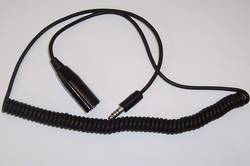 PILOT PA77H Helicopter Headset Extension - Coil Cord