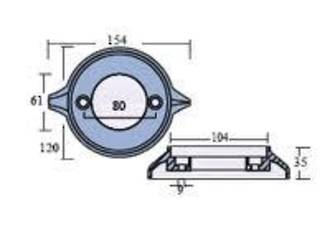 Anode Volvo Penta Bearing Carrier== RUN OUT ITEM == 875815