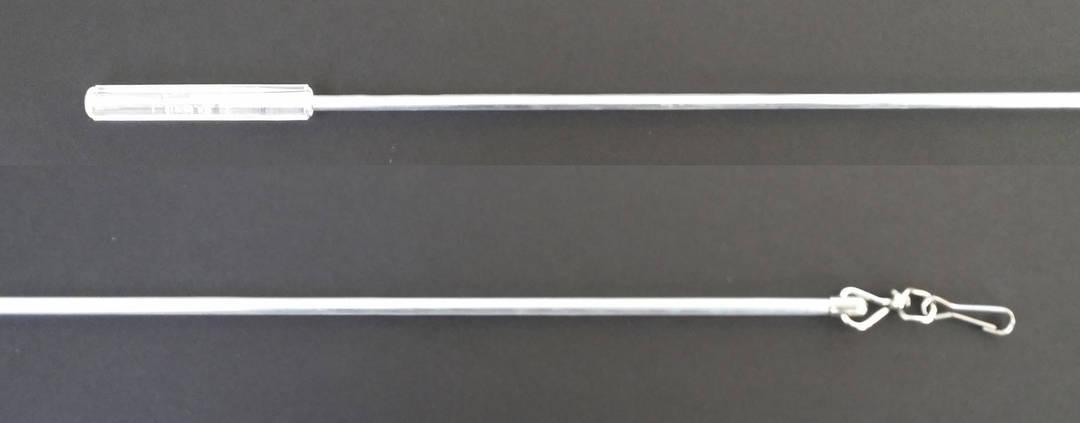 Chrome Clear Plastic Coated Steel Wand 750mm