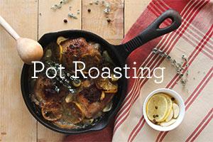 pot roasting meat