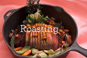 roasting beef lamb pork