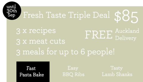 fresh taste triple recipe pack mince pasta bake