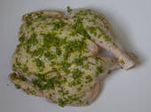 Free Range Organic Chicken Butterflied with Herb spread