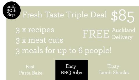triple recipe pack BBQ ribs