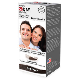 Godefroy 28 Day Touch Ups Hair Color - Dark Brown
